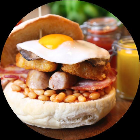 A Delicious Looking Breakfast Bap